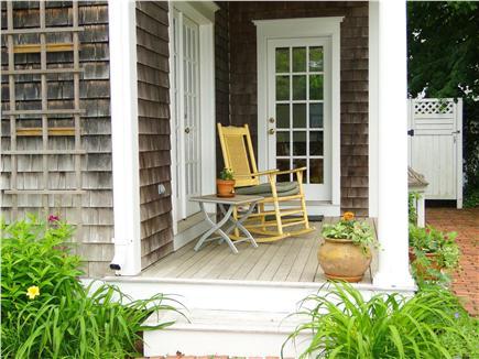Edgartown Martha's Vineyard vacation rental - Back porch facing yard and patio