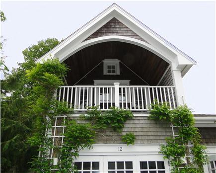 Edgartown Martha's Vineyard vacation rental - Second level balcony overlooking the Village Green
