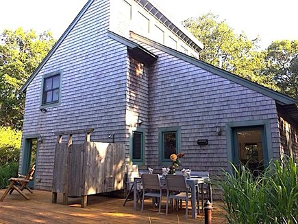 West Tisbury Martha's Vineyard vacation rental - Outdoor deck, clear-story windows exterior