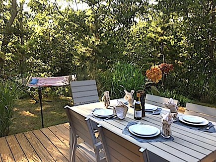 West Tisbury Martha's Vineyard vacation rental - Outdoor dining area, hammock