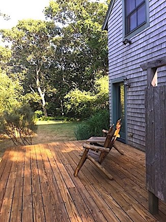 West Tisbury Martha's Vineyard vacation rental - Outdoor sitting area leading to yard