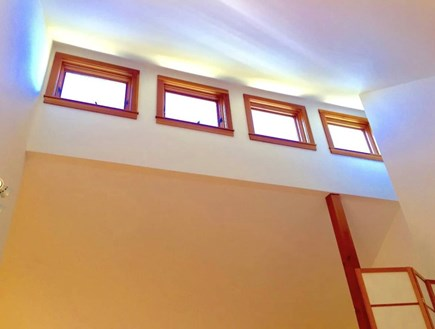 West Tisbury Martha's Vineyard vacation rental - Clear-story windows as seen from loftroom sofa