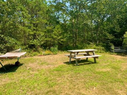 West Tisbury Martha's Vineyard vacation rental - Hammock, picnic table, planter bench