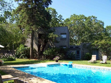 West Tisbury Martha's Vineyard vacation rental - Pool and guest house
