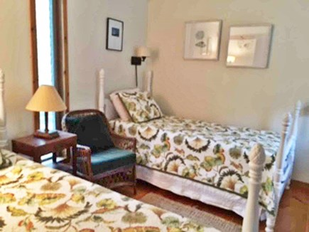 West Tisbury Martha's Vineyard vacation rental - Twin bedroom 2, has own sink, closet and bureau
