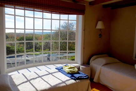 Aquinnah Martha's Vineyard vacation rental - Twin Bedroom with Curved Glass