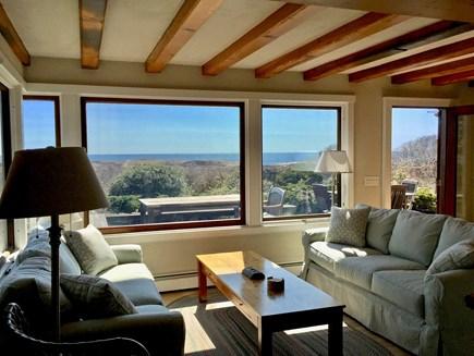 Aquinnah Martha's Vineyard vacation rental - Living Room facing Ocean