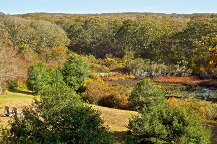 Aquinnah Martha's Vineyard vacation rental - Fall View of our Pond from House