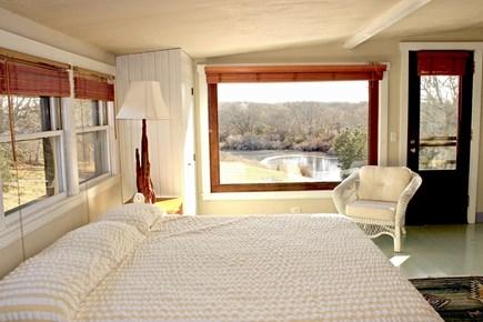 Aquinnah Martha's Vineyard vacation rental - Downstairs Master Bedroom and Pond