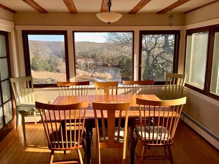 Aquinnah Martha's Vineyard vacation rental - Dining facing Pond