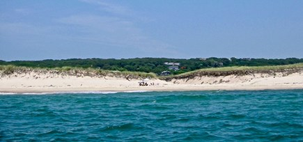 Aquinnah Martha's Vineyard vacation rental - House as seen from our Boat