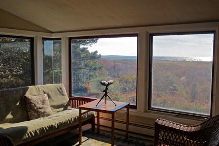Aquinnah Martha's Vineyard vacation rental - Family Room Looking Toward Nomans Land Island