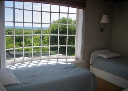 Aquinnah Martha's Vineyard vacation rental - Curved Glass Bedroom