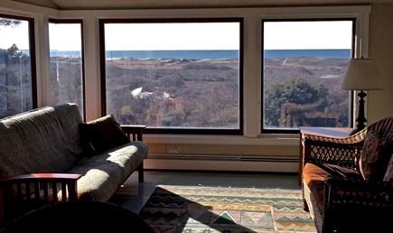 Aquinnah Martha's Vineyard vacation rental - Family Room and View of Nomans Island