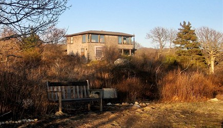 Aquinnah Martha's Vineyard vacation rental - House from South Side of Property