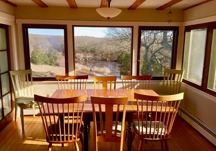 Aquinnah Martha's Vineyard vacation rental - Dining and View of our Pond
