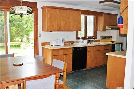 Edgartown Martha's Vineyard vacation rental - Kitchen and dining area which leads to wrap-around deck