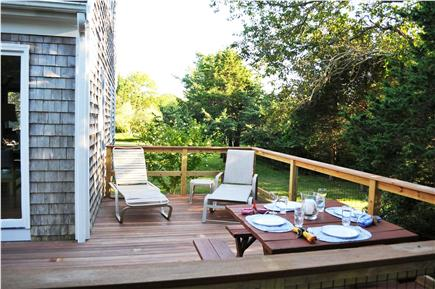 Edgartown Martha's Vineyard vacation rental - Deck has sunny and shady areas