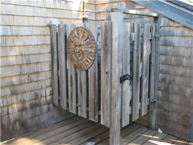 West Tisbury Martha's Vineyard vacation rental - Outside shower on deck