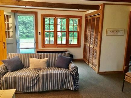 Katama, Edgartown Martha's Vineyard vacation rental - Family Room view to backyard and deck