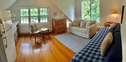 Katama - Edgartown, Edgartown Martha's Vineyard vacation rental - Bedroom #4 Suite - Living Room, twin pull-out sofa and studio cot