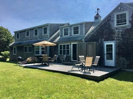 Katama, Edgartown Martha's Vineyard vacation rental - Back yard with deck, outdoor shower, Weber grill