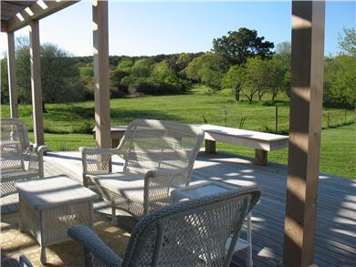Edgartown Martha's Vineyard vacation rental - Southern Deck with pergola