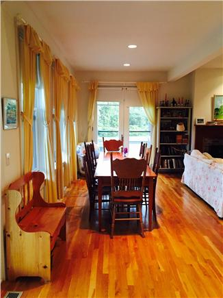 Edgartown Martha's Vineyard vacation rental - Dining section of open living area seats 8 comfortably