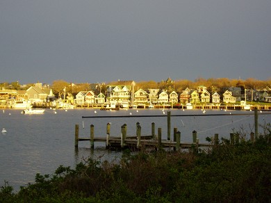 Oak Bluffs Martha's Vineyard vacation rental - Off Season View of Sunset Reflection/GingerbreadCottages