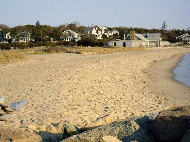 Oak Bluffs Martha's Vineyard vacation rental - Jetty Beach (public) on Vineyard Sound just a 4 min walk away