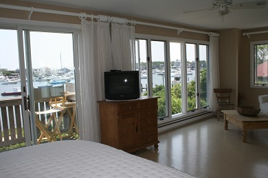 Oak Bluffs Martha's Vineyard vacation rental - Harbor view from master with king toward sitting area