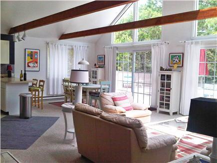 Katama - Edgartown Martha's Vineyard vacation rental - Open Living and Dining Room to outdoor decks