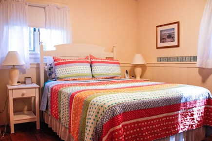 Chilmark Martha's Vineyard vacation rental - Master bedroom on first floor with adjacent bath