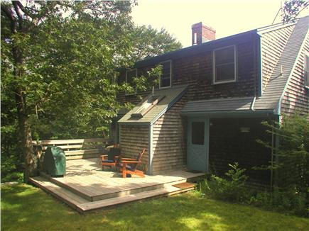 West Tisbury, Lambert's Cove Martha's Vineyard vacation rental - Relaxing back yard with deck and grill