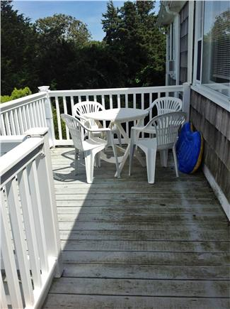 Vineyard Haven Martha's Vineyard vacation rental - Furnished deck overlooking pool & views of Vineyard Haven harbor