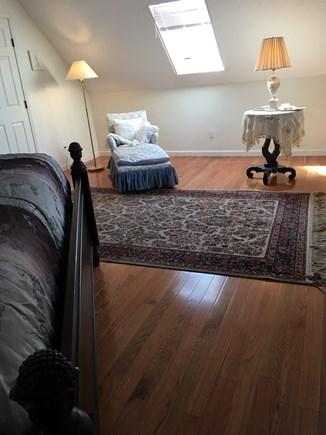 Edgartown Across Felix Neck  Martha's Vineyard vacation rental - Relax on settee in larger, King size Master Bedroom.