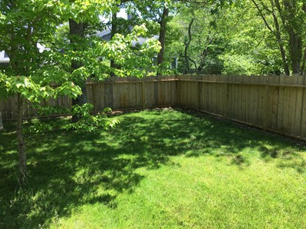 Edgartown Martha's Vineyard vacation rental - New play yard / pet yard has some sun, some shade.