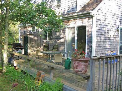 West Tisbury Martha's Vineyard vacation rental - Deck with quiet privacy