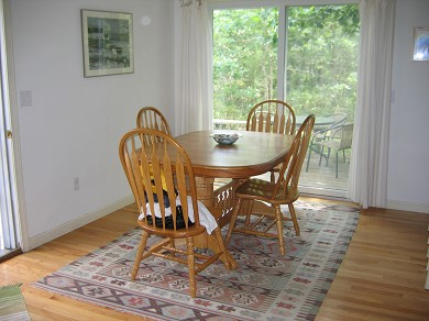 West Tisbury Martha's Vineyard vacation rental - Dining room with sliders to deck