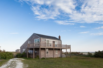 Madaket Nantucket vacation rental - Upper and lower decks have great water views