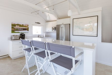 Madaket Nantucket vacation rental - Kitchen renovated in 2016; island seats have ocean view