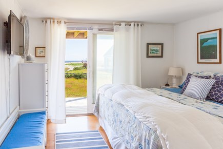 Madaket Nantucket vacation rental - King bedroom has oceanfront view and its own deck