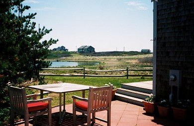 Madaket Nantucket vacation rental - Patio next to the first floor deck