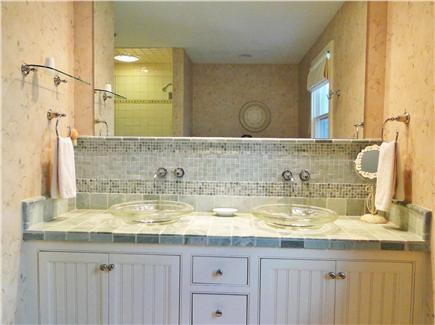 Nantucket town Nantucket vacation rental - Large Master Bath- double vanity, dressing area