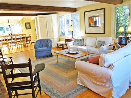 Nantucket town Nantucket vacation rental - Larger View of Living Room-Bright and Sunny