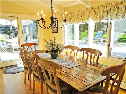 Nantucket town Nantucket vacation rental - Dining Room with Views of the Deck and Yard