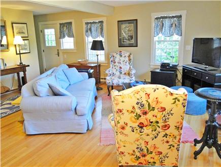 Nantucket town Nantucket vacation rental - Large Family Room  (Big  Screen  High Def TV, home theatre)