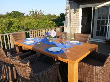 Dionis Nantucket vacation rental - Breakfast on the Deck