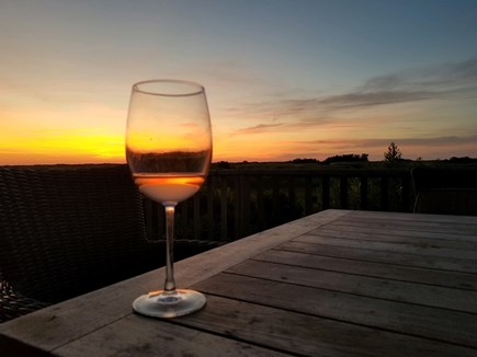 Dionis Nantucket vacation rental - A Glorious Sunset From The Deck