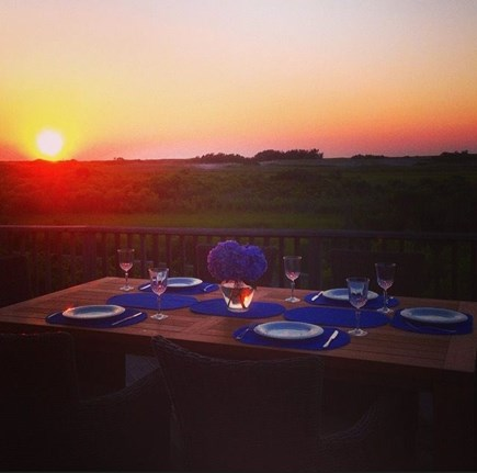 Dionis Nantucket vacation rental - A Glorious Sunset Dinner